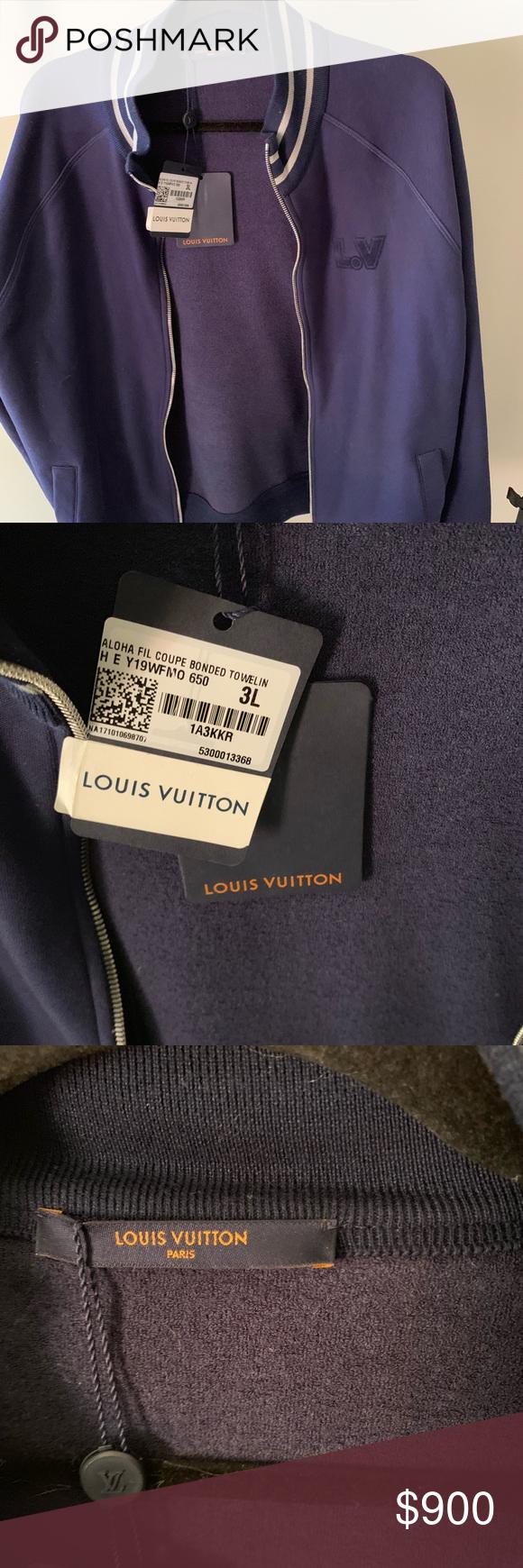 Men's Louis Vuitton varsity jacket blue NWT NWT #varsityjacketoutfit Spotted while shopping on Poshmark: Men's Louis Vuitton varsity jacket blue NWT! #poshmark #fashion #shopping #style #Louis Vuitton #Other #varsityjacketoutfit