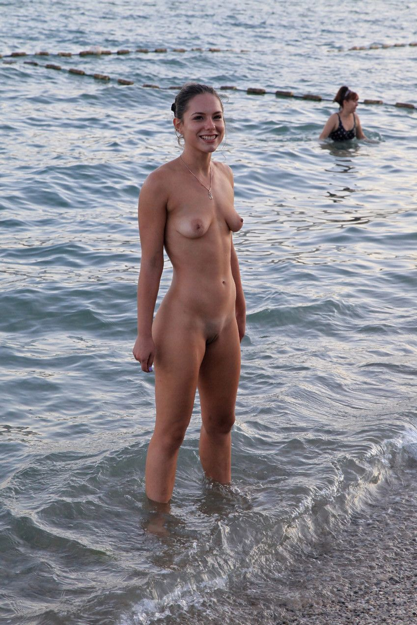 naked girls doing stuff outside