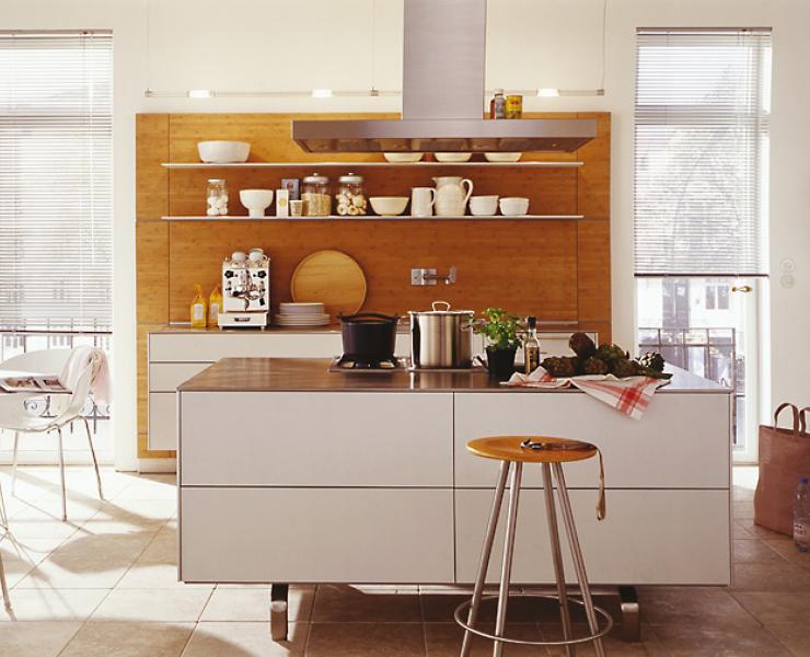 Offene küchenschränke ~ Offene küche lange schmale fenster kitchenstories
