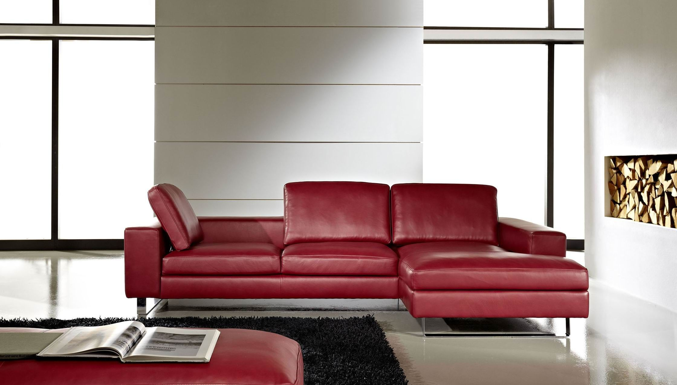 Ledersofa Feel LC Fantastischer Sitzkomfort und unglaubliche