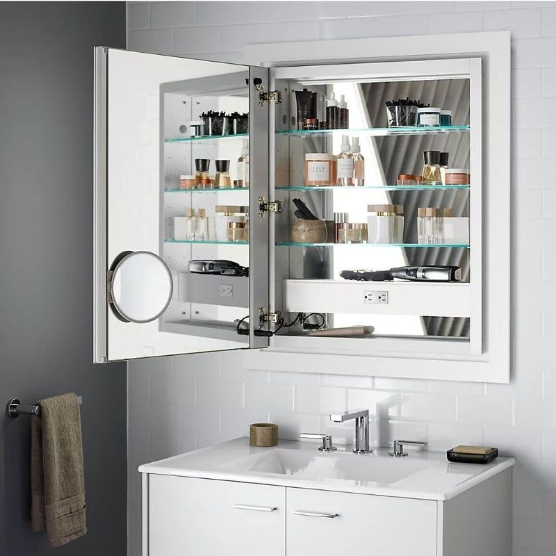 23+ Bath mirror with wall pull out ideas