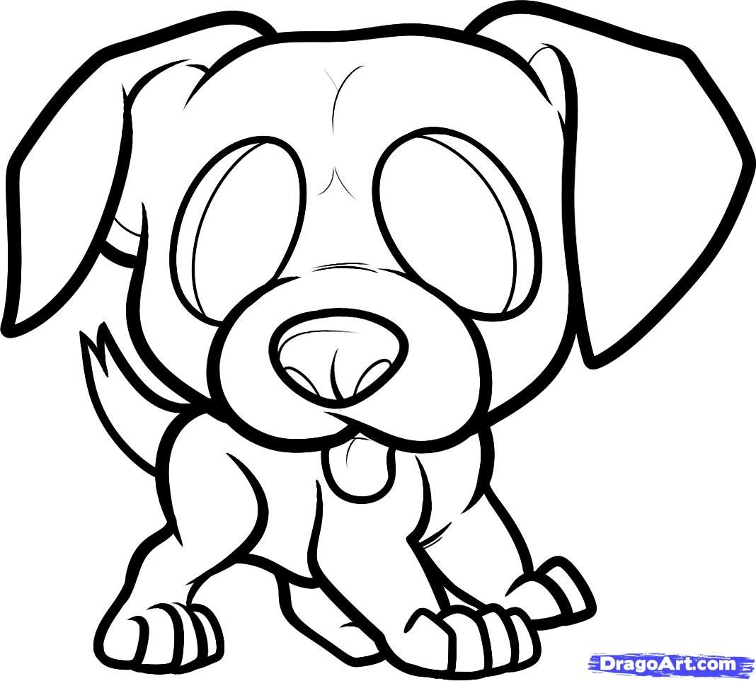 How to Draw a Boxer Puppy Boxer Puppy Step by Step Pets Animals