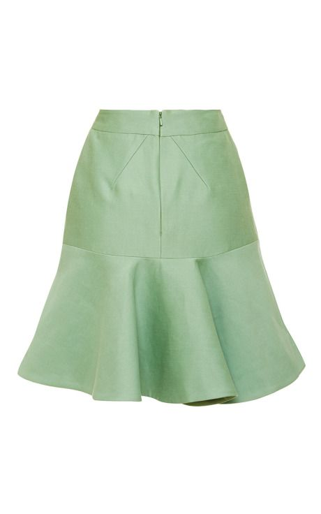 Peppermint Ottoman Skirt by Zac Posen for Preorder on Moda Operandi