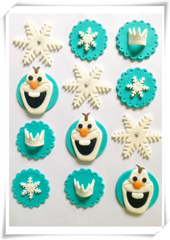 Conjunto de 12 o 24 toppers de cupcake de congelados por SugaryLand