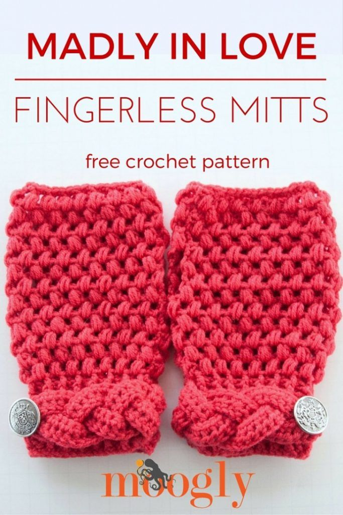 Madly In Love Fingerless Mitts Free Crochet Pattern For Teens And