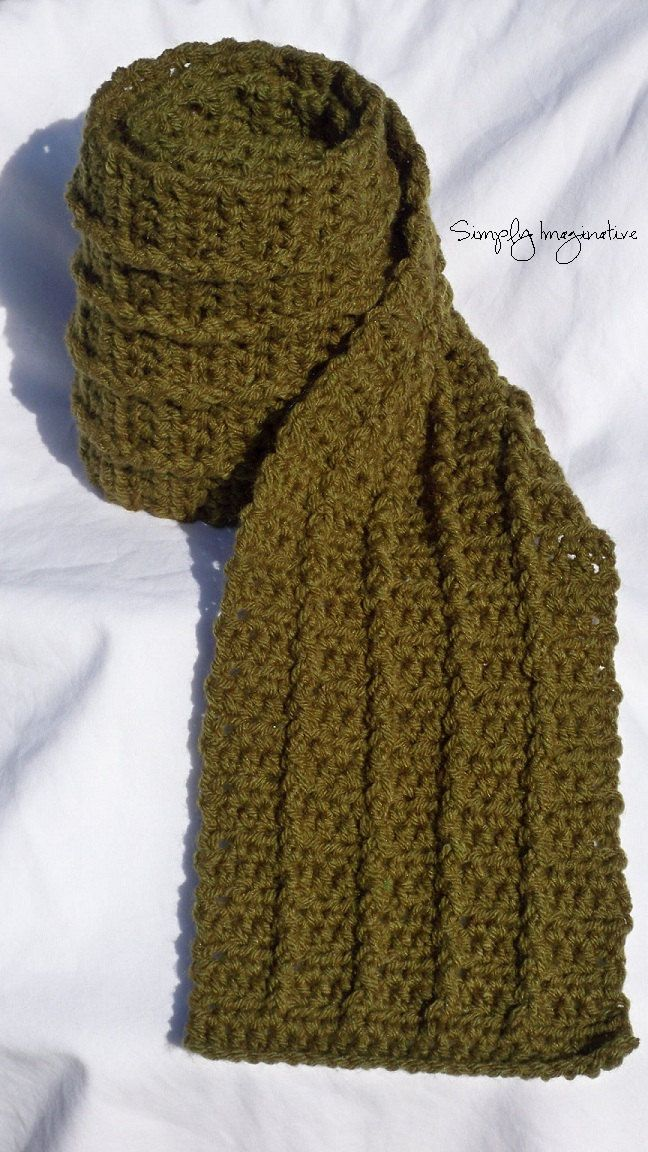 Crochet Scarf For Men | CROCHET: SCARVES & HATS | Pinterest ...