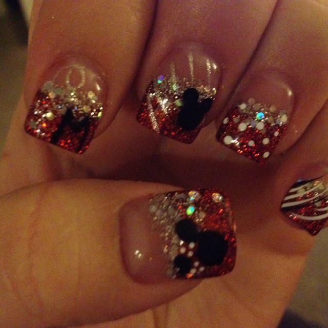 Mickey Minnie Nails | NAILS!! | Pinterest | Disney nails, Disney ...