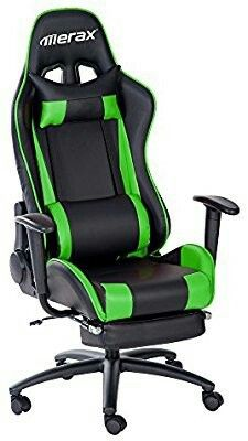 office chair footrest. merax racing style high-back gaming chair ergonomic design office swivel computer with footrest c