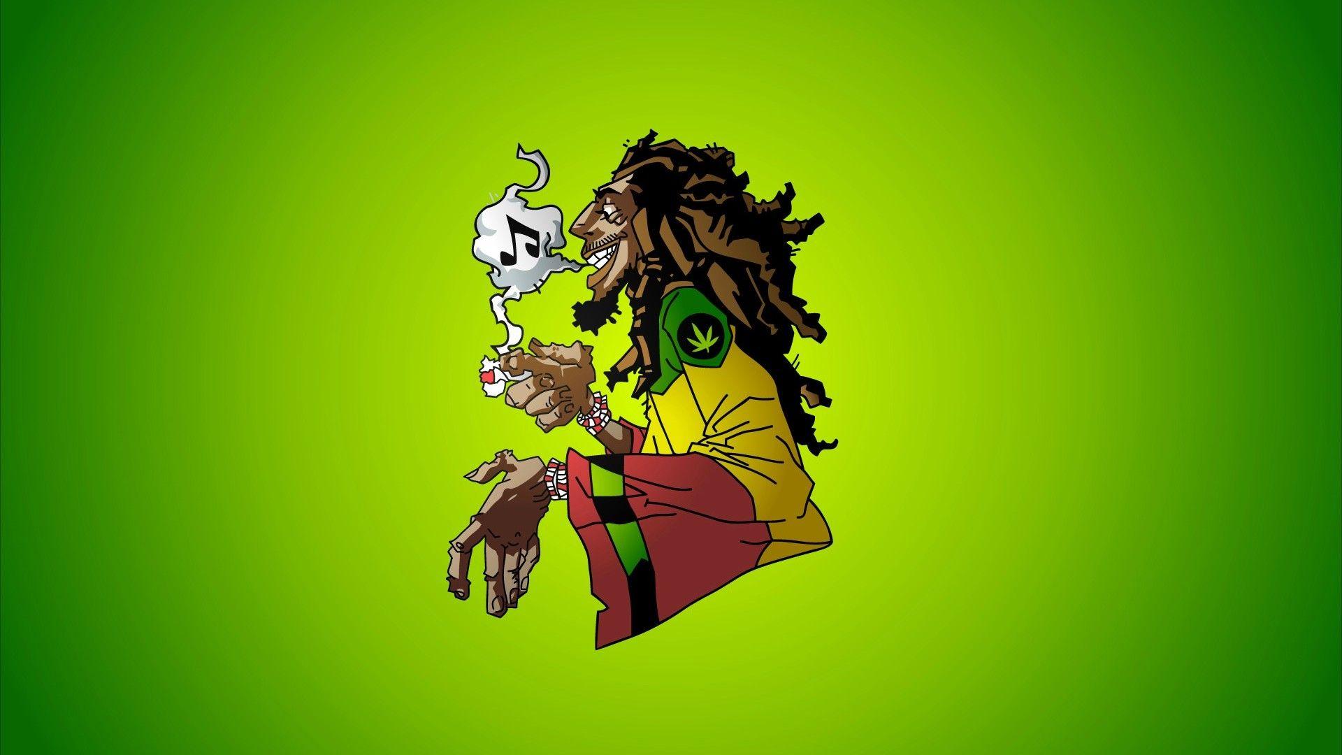 Reggae Weed Background