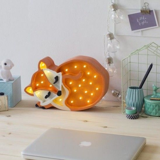 Een slapend vosje als sfeerlamp #kinderkamer #verlichting | světla ...