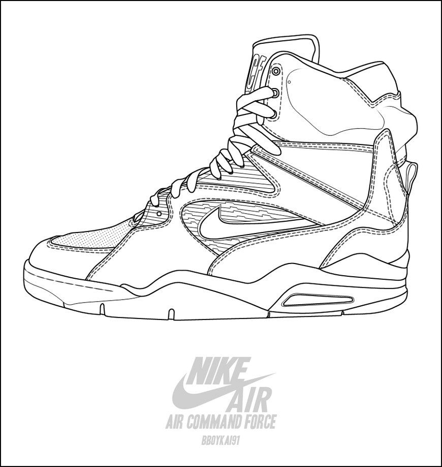 Nike air command force basketball shoes coloring pages - Enjoy ...