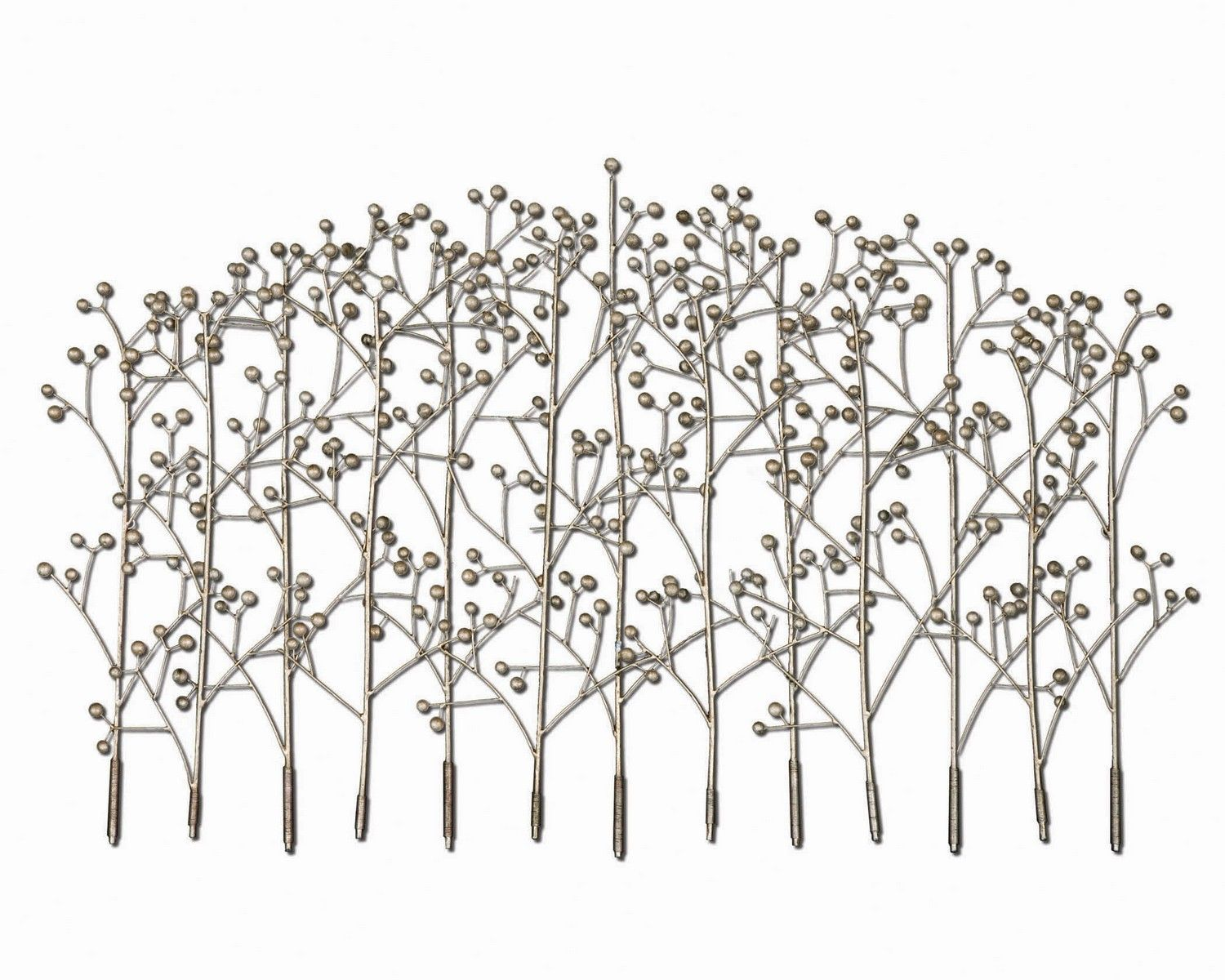 Uttermost iron trees metal wall art this wall art features