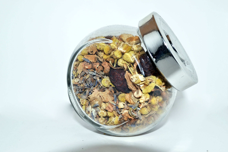 Dried Lavender Potpourri Glass Jar Baby Bridal Shower Favors