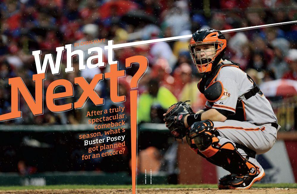 giants magazine, april, 2013, buster posey,