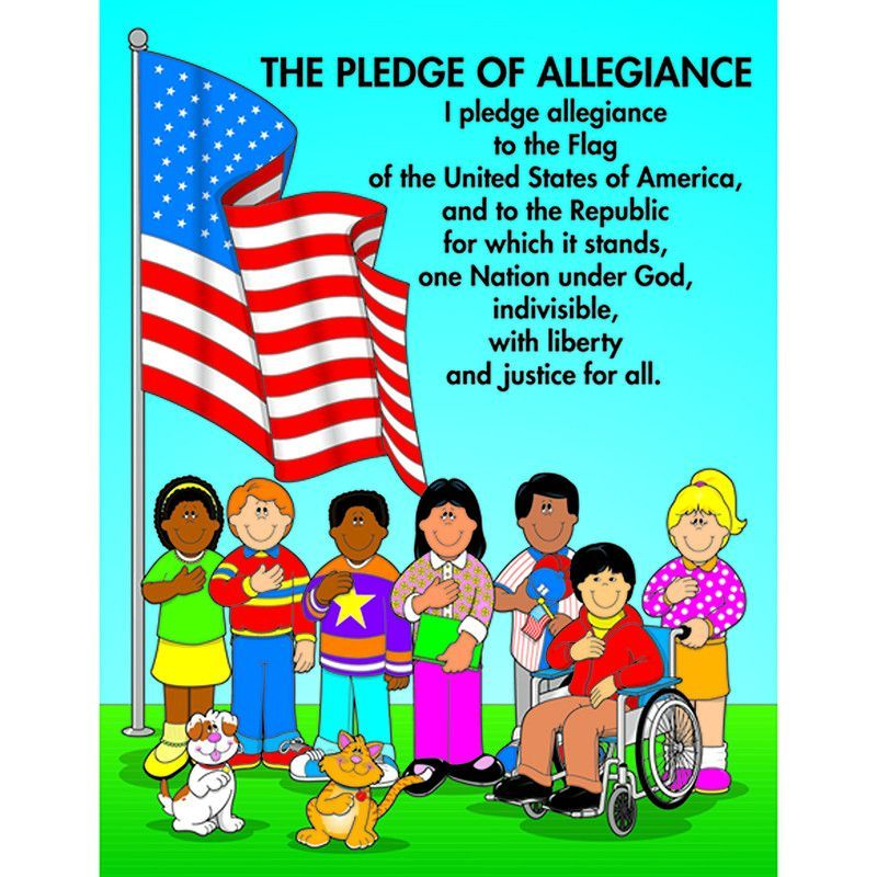 CHARTLET THE PLEDGE OF ALLEGIANCE