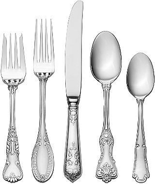 I can appreciate the clean lines of contemporary flatware, but my heart and my dining room will always have the old-fashioned carved motifs of yesteryear! Wallace Hotel 77 Pc Luxury Flatware Set jcpenney.