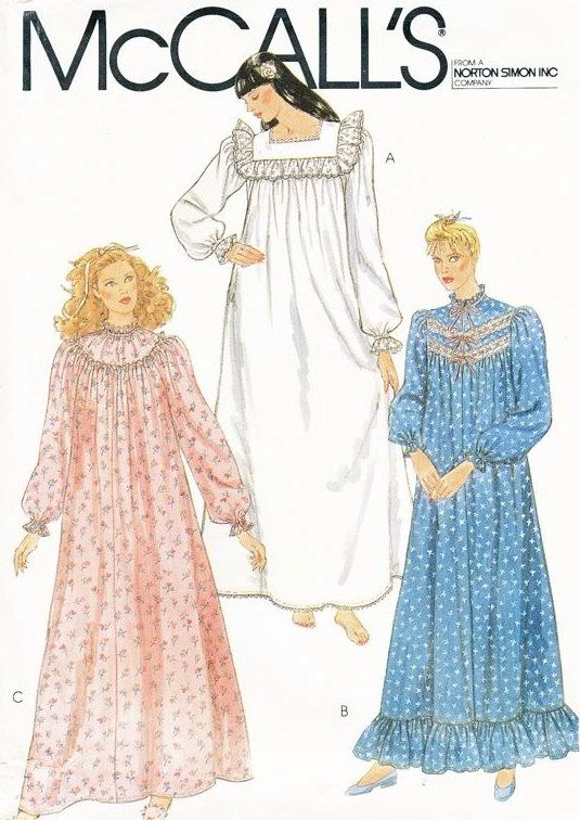 vintage victorian nightgown sewing pattern  patterns4you