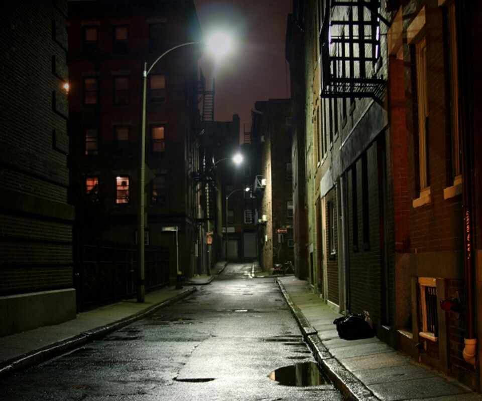 City Alley Way Street Background