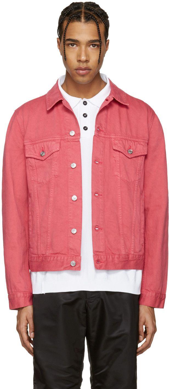 ACNE STUDIOS Pink Beat Denim Jacket.  acnestudios  cloth  beat ... f9cde7bcfc7