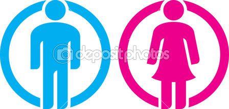 Letrero De Bano Hombre Y Mujer Vector De Stock C Tribaliumivanka