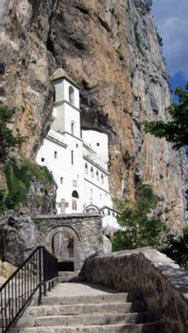 The Monastery Of Ostrog Serbian Manastir Ostrog Manastir Ostrog Pronounced ǒstroɡ Is A Monastery Of The Serbian Ort Montenegro Sailing Trips Places To Go