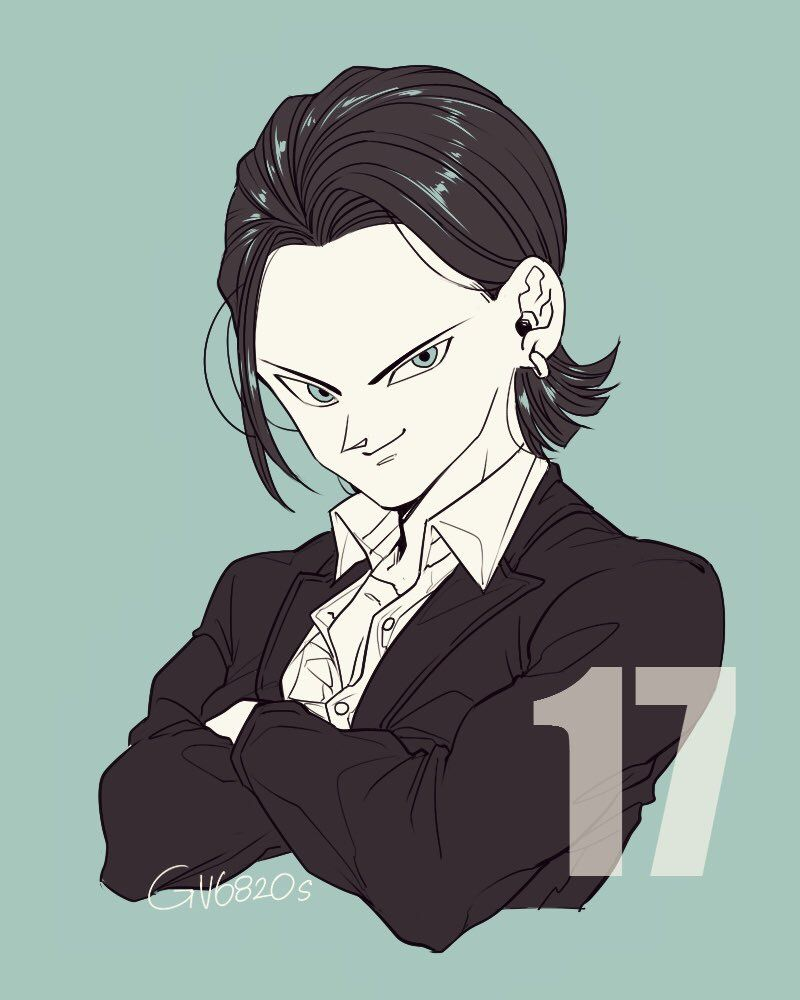 Android 17 He Is So Cute!!!!!!!