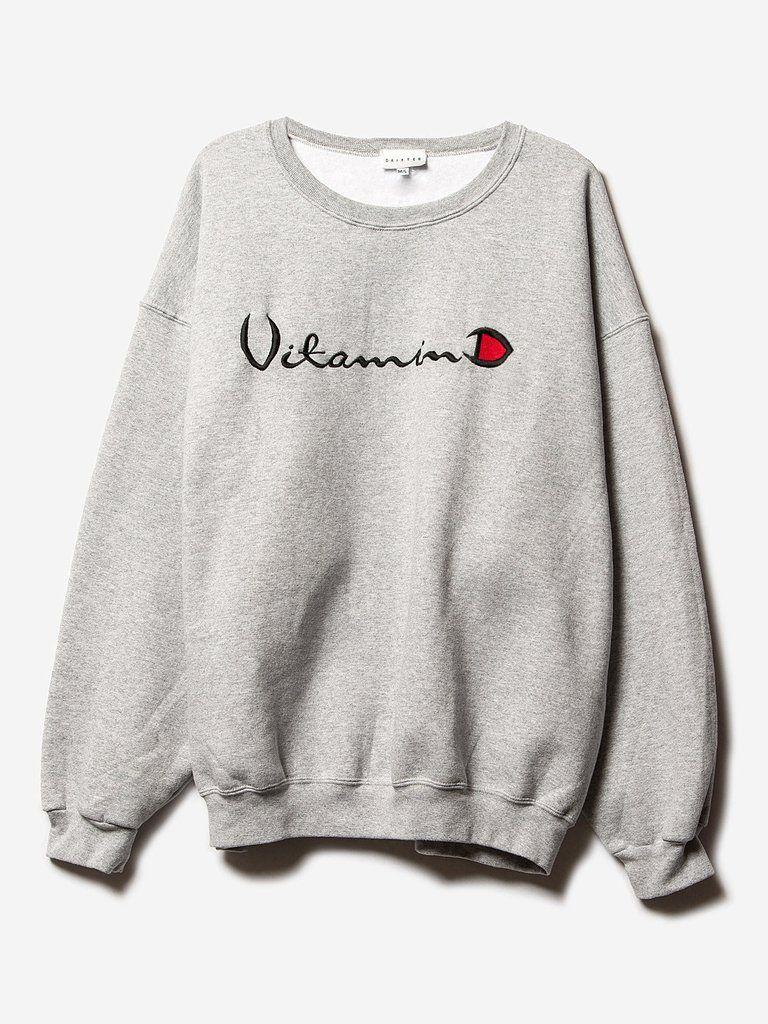 helios grey crewneck sweatshirt drifter alchemist vitamin d | pipe and row