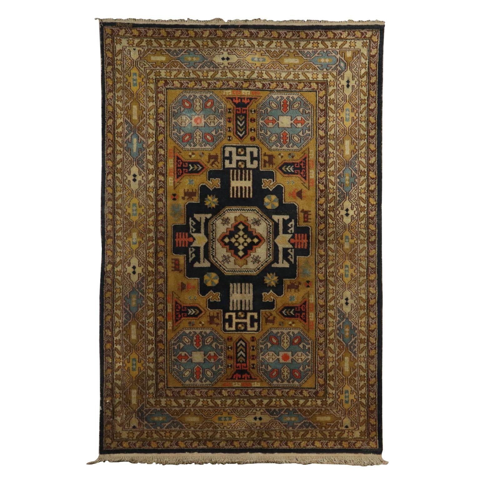 Antiquitaten Cotton And Wool Kuba Carpet Azerbaijan 1980s 1990s Cotton And Wool Kuba Carpet Azerbaijan 1980s 1990s Big Knot Ha Tapis Laine Tapis Moderne