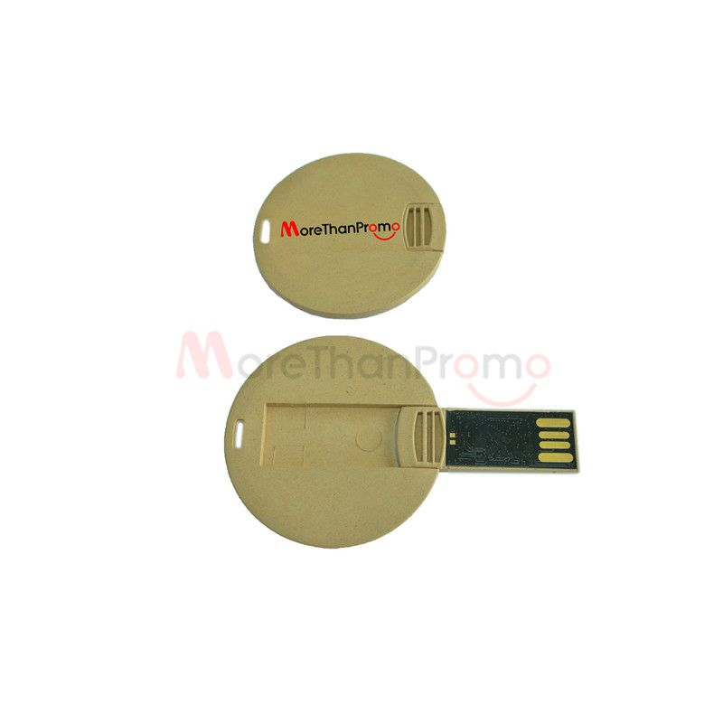 Degradable Usb Flash Drives Paper Card Usb Flash Drives Round