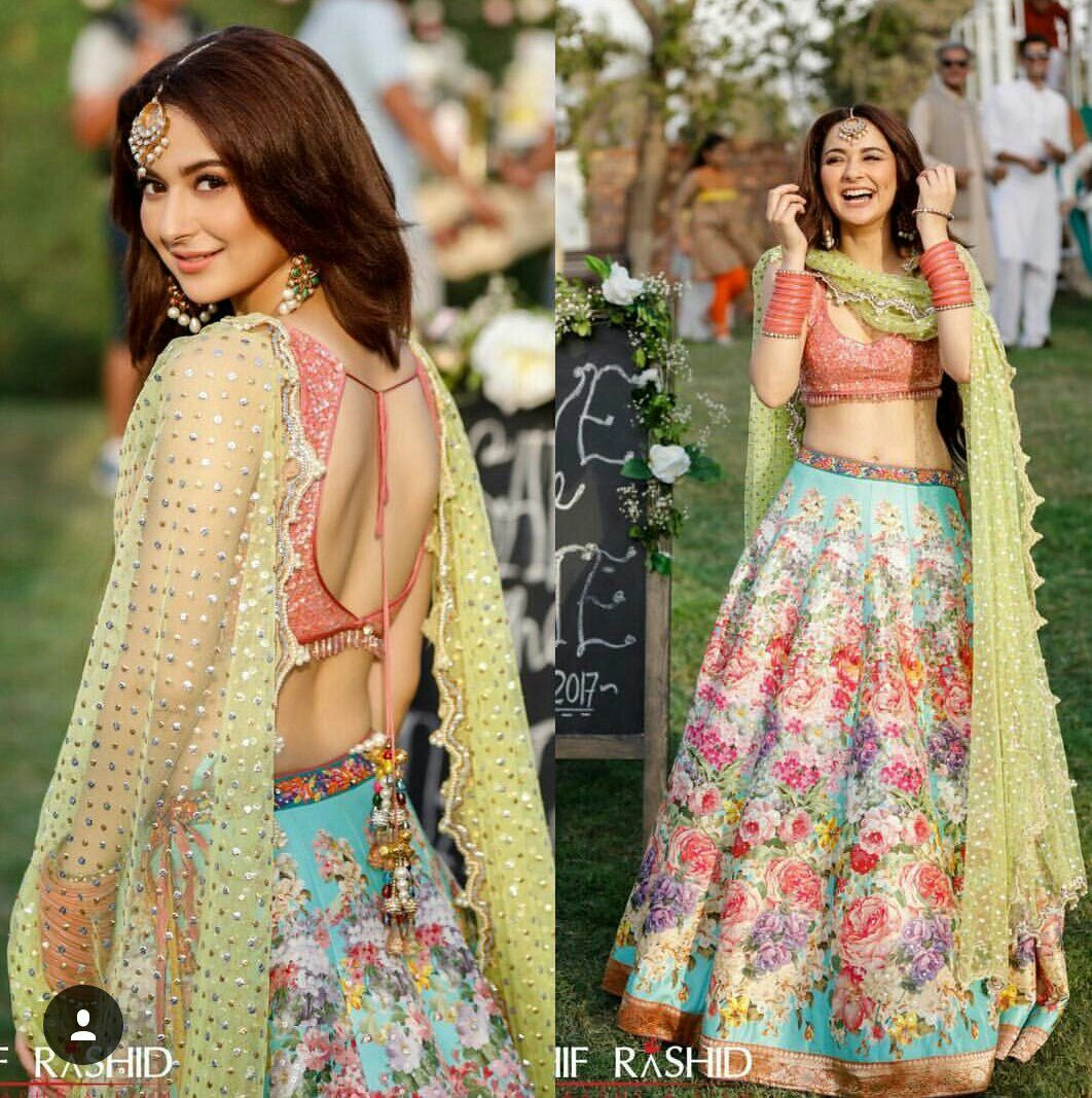 Hania Amir Pakistani Actress Indian designer outfits