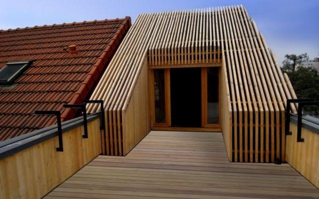Extension bois d\u0027un toit terrasse House