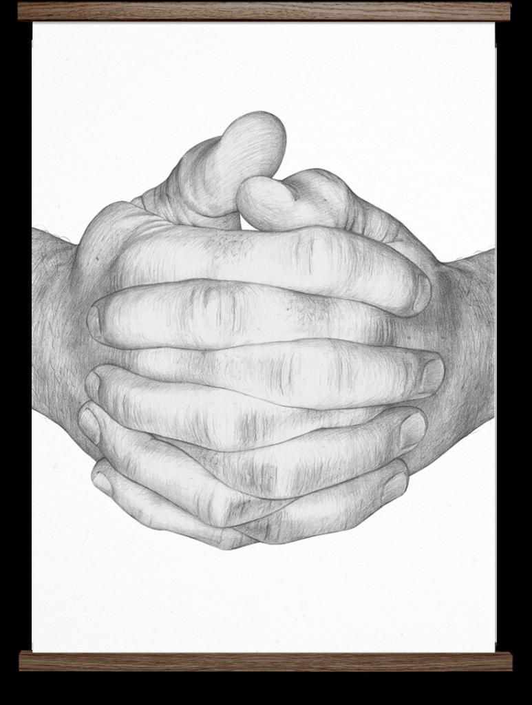 Borge Bredenbekk Folded Hands White Print Folded Hands Hand Illustration How To Draw Hands