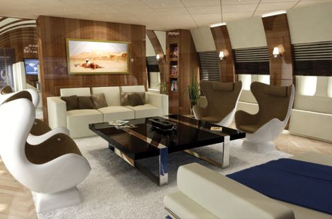 Picture Yourself Here Aboard This Private Boeing 747 Jumbo Jet