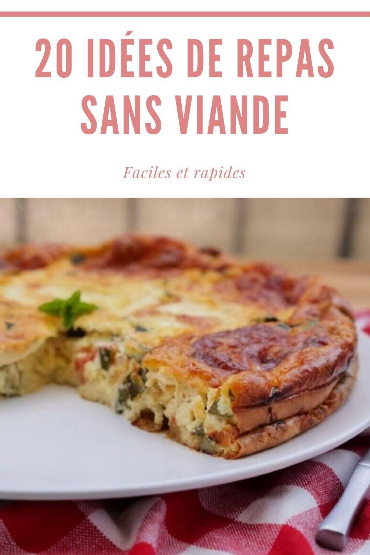 Recette Sans Viande Pour Le Soir : recette, viande, Recettes, Viande, Repas, Recette, Viande,, Végétarienne, Facile,