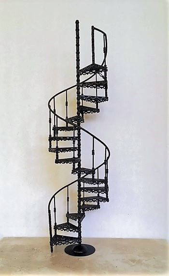 Dollhouse Miniature Scale Spiral Staircase In Brass By MiniatureIronWorks  On Etsy