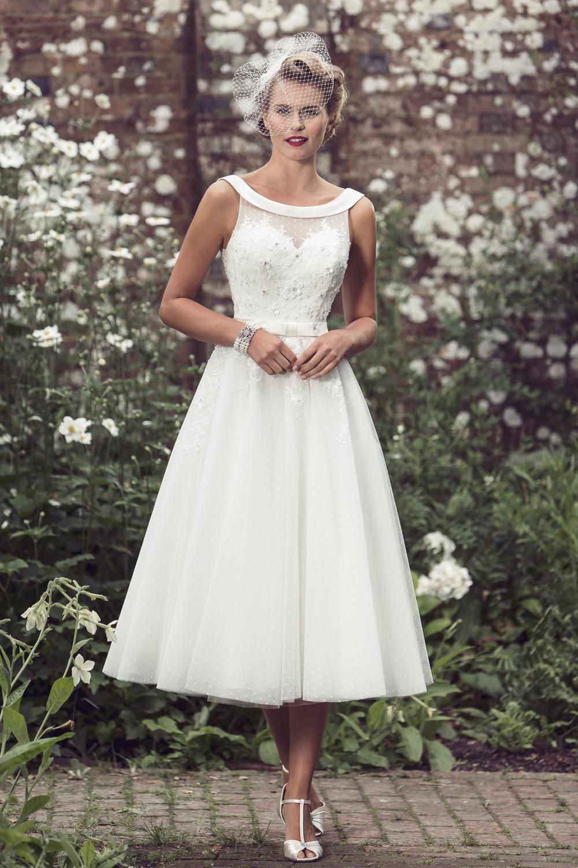 Tea Length Bridal and 50's Style Short Wedding Dresses ...