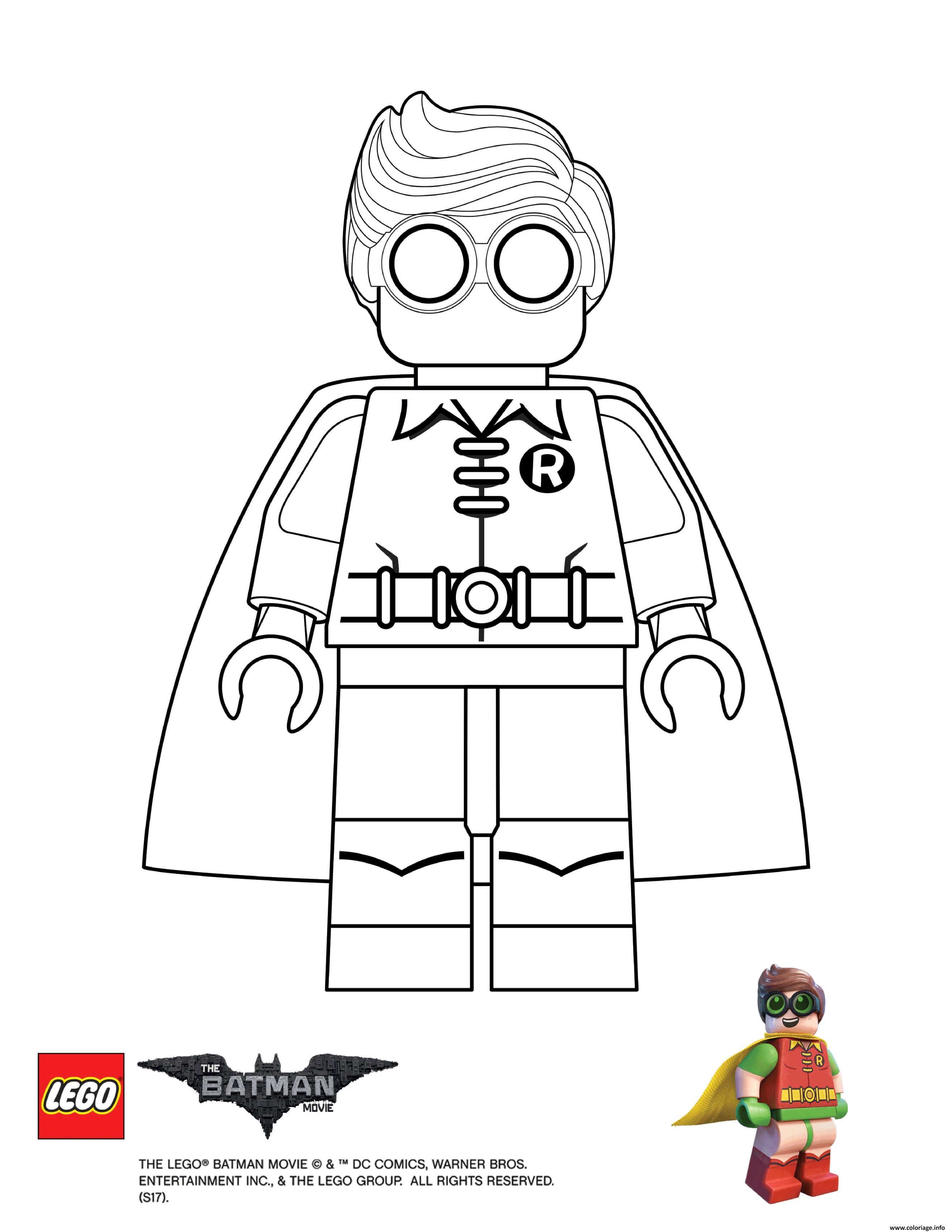 Coloriage Robin Lego Batman Movie A Imprimer Coloriage Lego