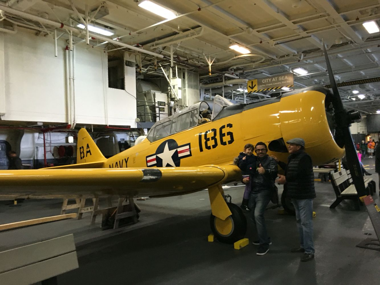 Con este avión entrenaban a los pilotos de US.