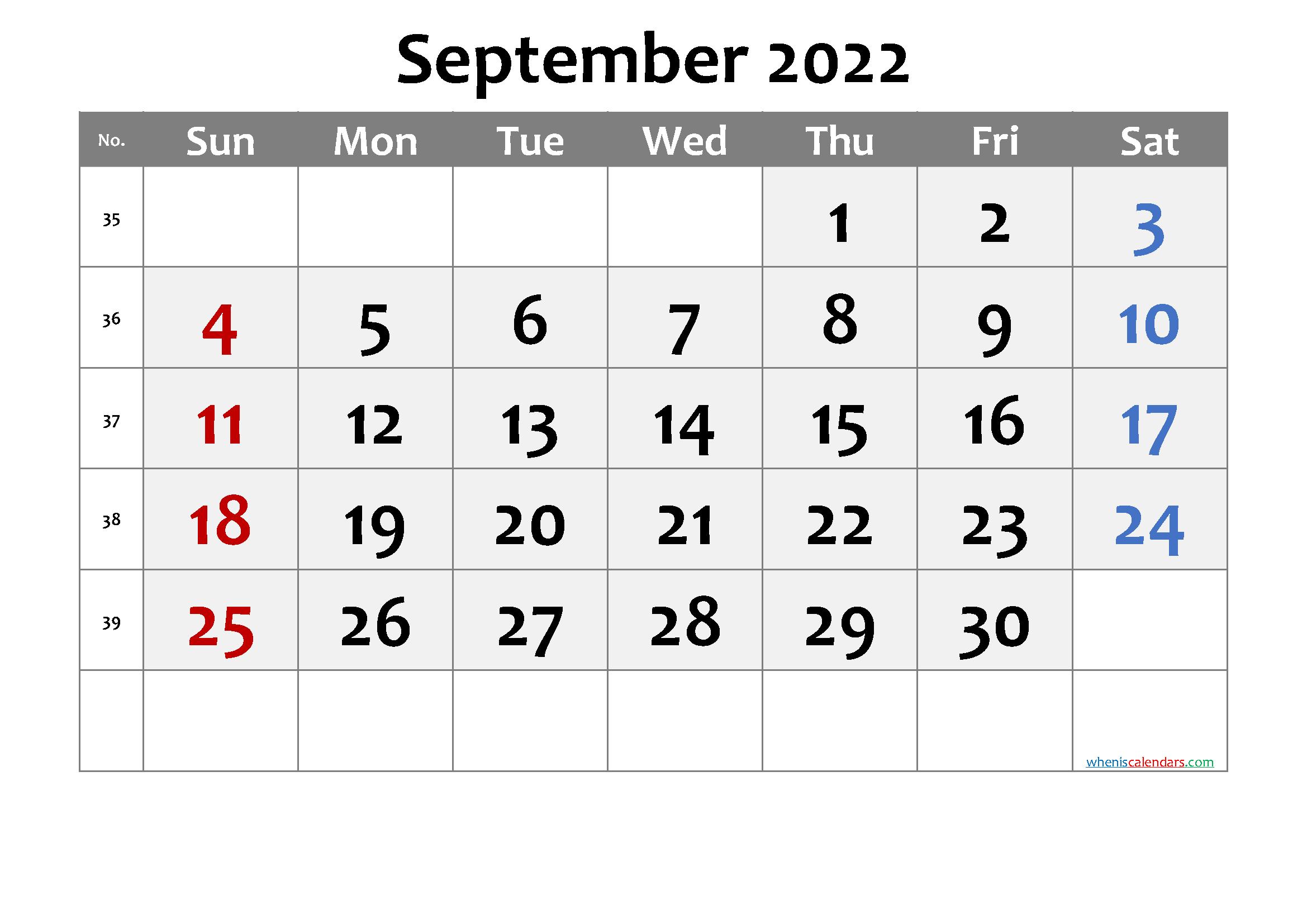 Calendar September 2022.Free Printable September 2022 Calendar Premium Calendar Printables Printable Calendar July Monthly Calendar Printable