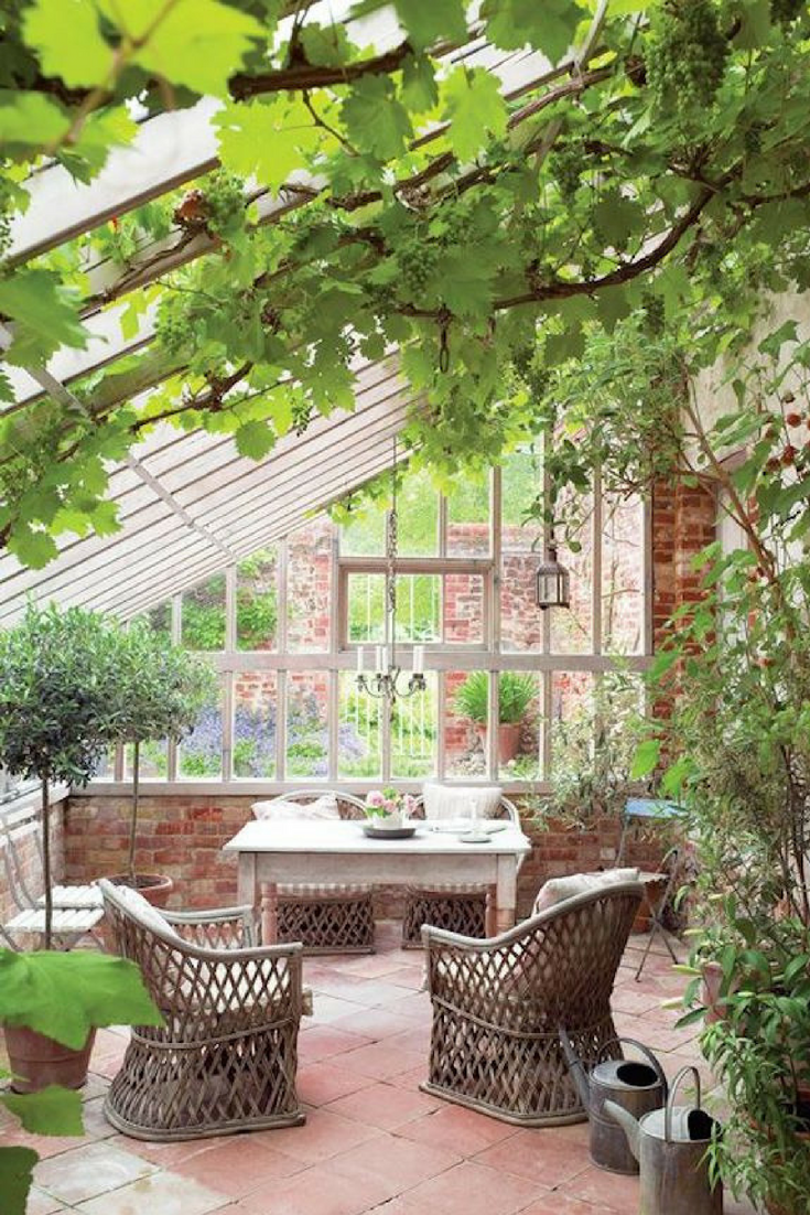 Perfect Guide For Adding A Sunroom - Types, Costs And Benefits [Sunroom  Ideas, Wicker Armchairs, Ceramic Tile Floor, Indoor Brick Wall, Sunroom  Decor, ...
