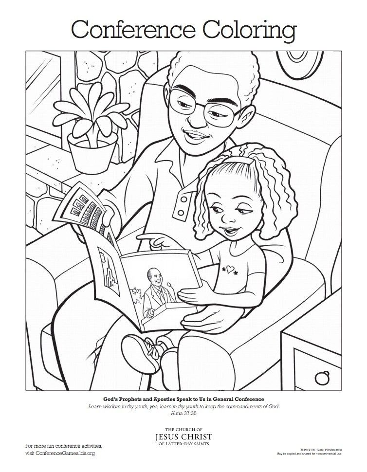 LDS General Conference Activities for Kids #LDSConf General conference - copy christian nursery coloring pages
