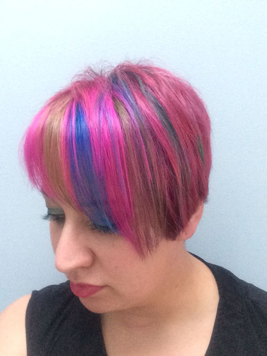 Elumen colours multicolourhair multicolorhair hair inspo