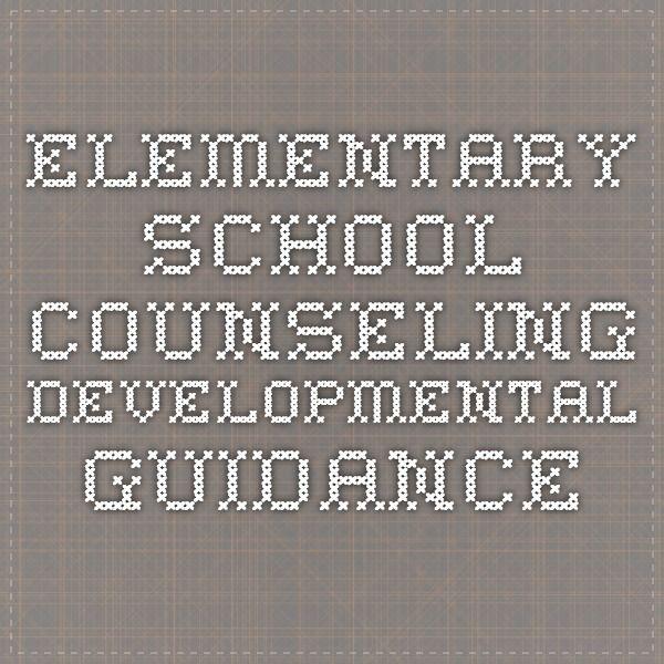 Elementary School Counseling Developmental Guidance
