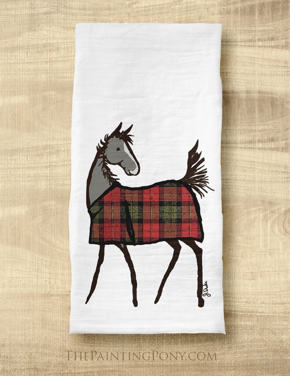 Merry Christmas in lots of ways Large Cotton Tea Towel by Half a Donkey