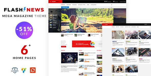 Flash News – Responsive News Theme | Pinterest