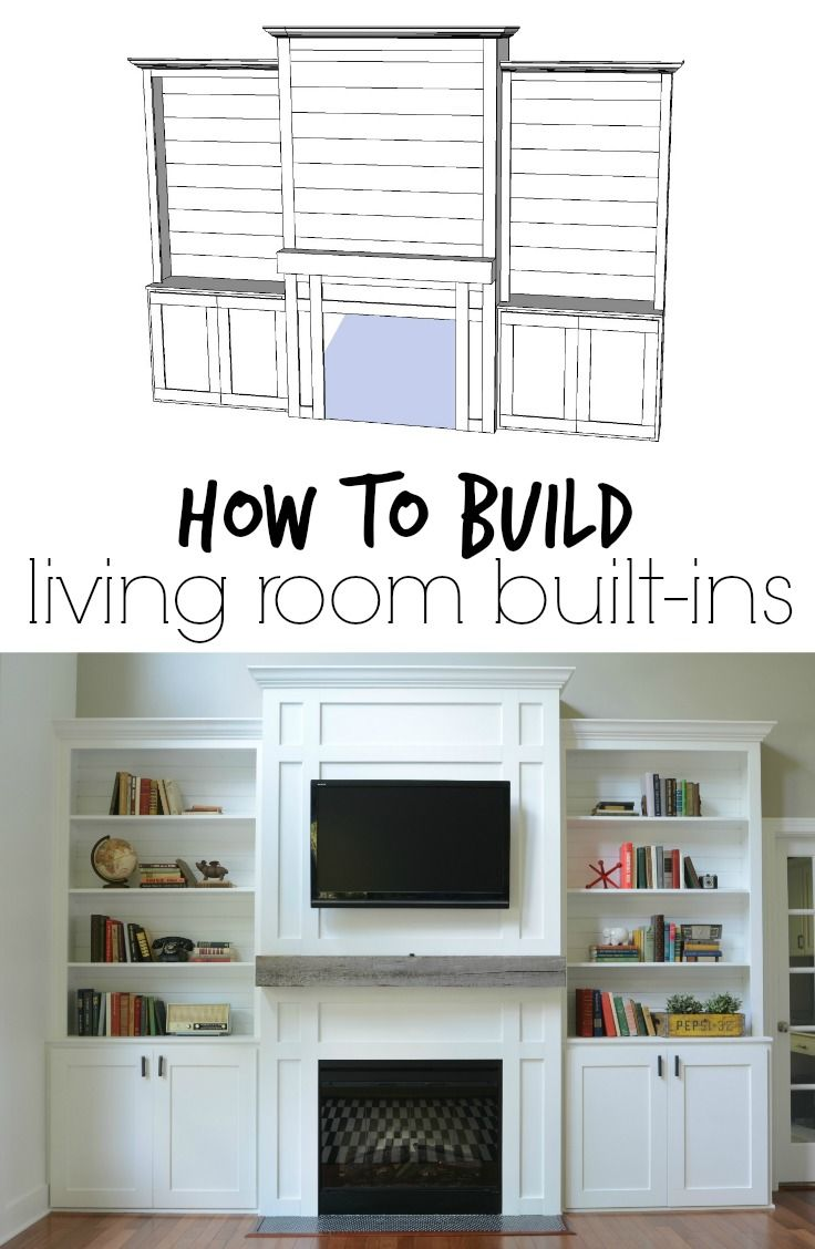 living room built ins tutorial cost pinterest living rooms rh pinterest com cost of building custom bookshelves - Cost Of Built In Bookshelves