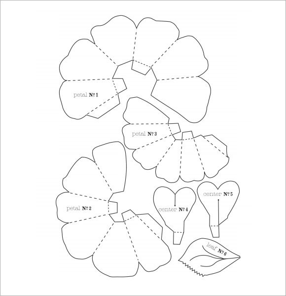 Flower Petal Template 9 Doents In Psd Vector Paper flowers - flower petal template
