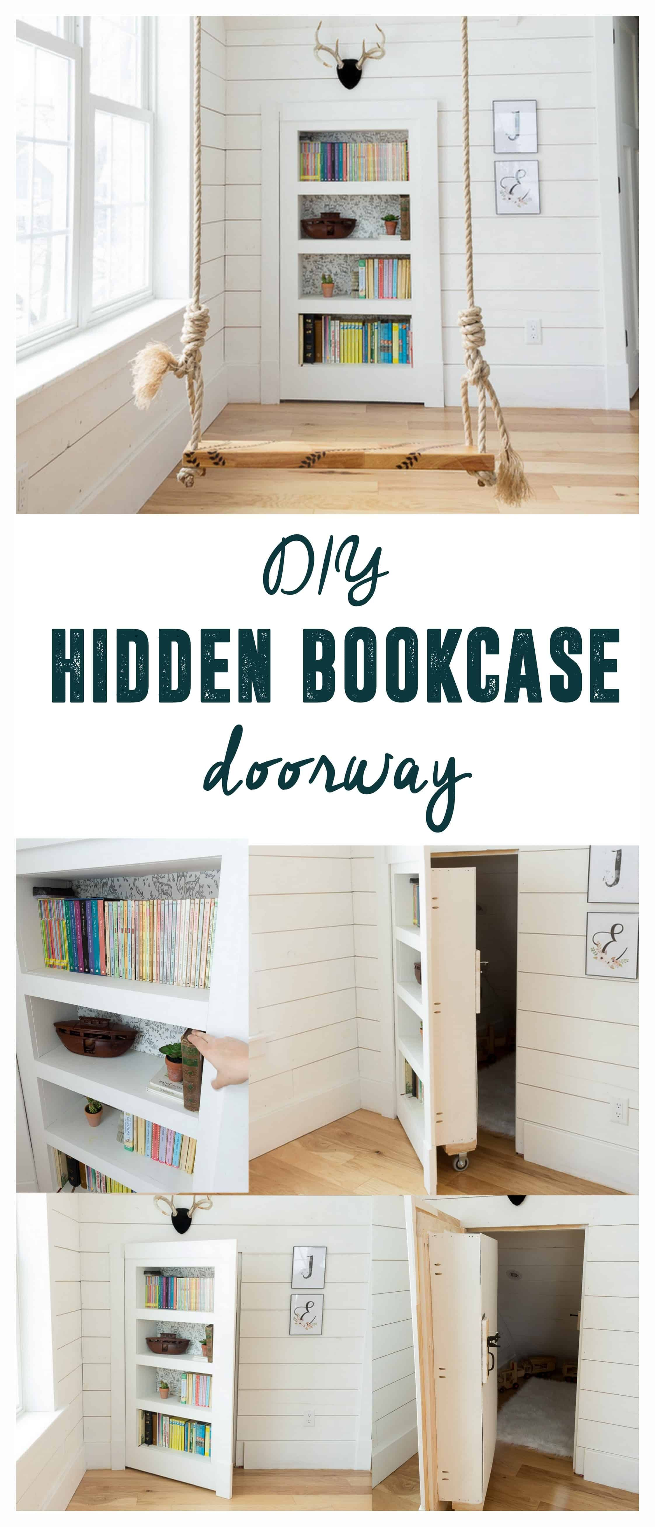 Diy Hidden Doorway Bookcase Bookcase Door Hidden Door