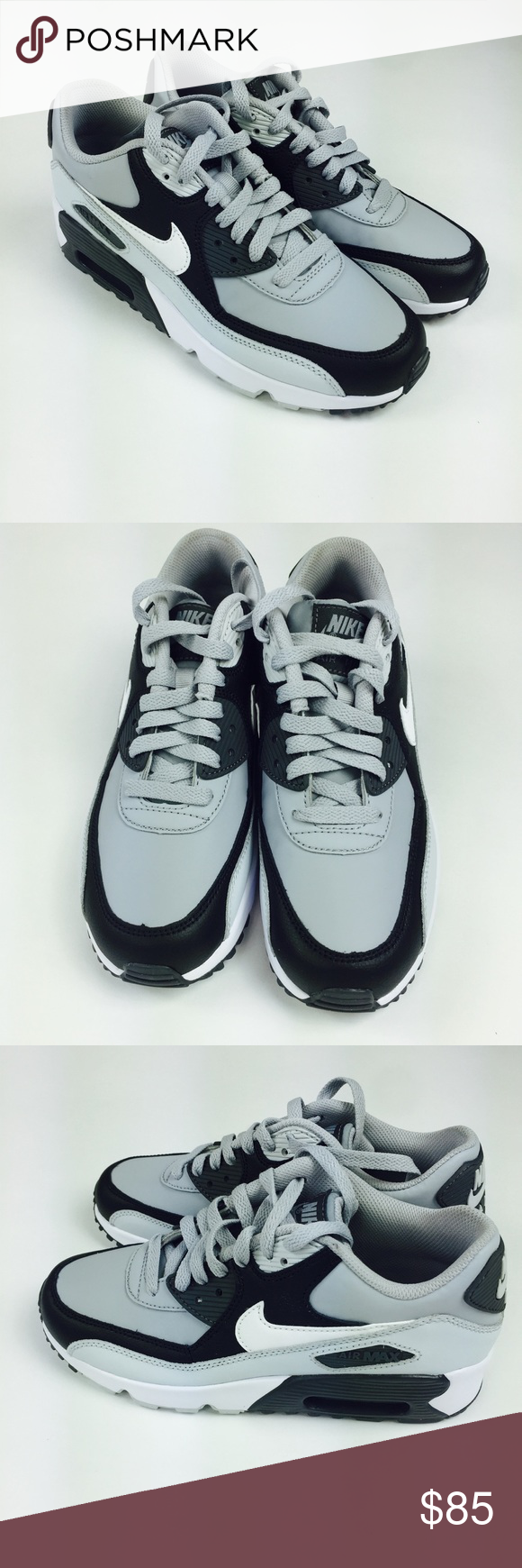 best service b31af 729e5 Nike Air Max 90 running shoes 5.5Y women s 7 gray Nike Air Max 90 Leather