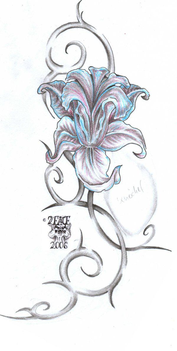 873a214dd0f5a Pin by Hannah Townsend on flower ideas | Flower tattoos, Tattoos, Iris  tattoo